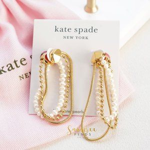 Kate Spade Know the Ropes Mixed Chain Soft Hoop